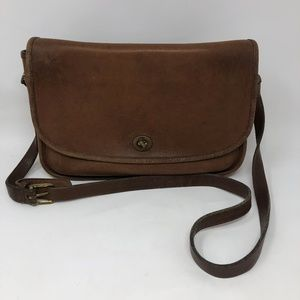 Vintage Coach Brown Leather Crossbody Purse
